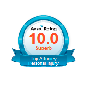 Avvo Rating - 10.0 Superb Top Attorney Personal Injury